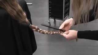 45 centimeter van mijn haar af! doneren aan stichting haarwensen :D