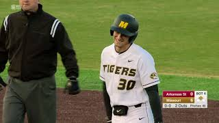 HIGHLIGHTS: Mizzou Baseball Wins 10th Straight at Home With 11-1 Win Over Arkansas State