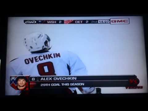 Ovechkin Laser Beam Goal Vs. Detroit (3/16/11)