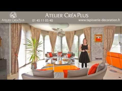 cr aplus tapissier d corateur paris et sa r gion youtube. Black Bedroom Furniture Sets. Home Design Ideas
