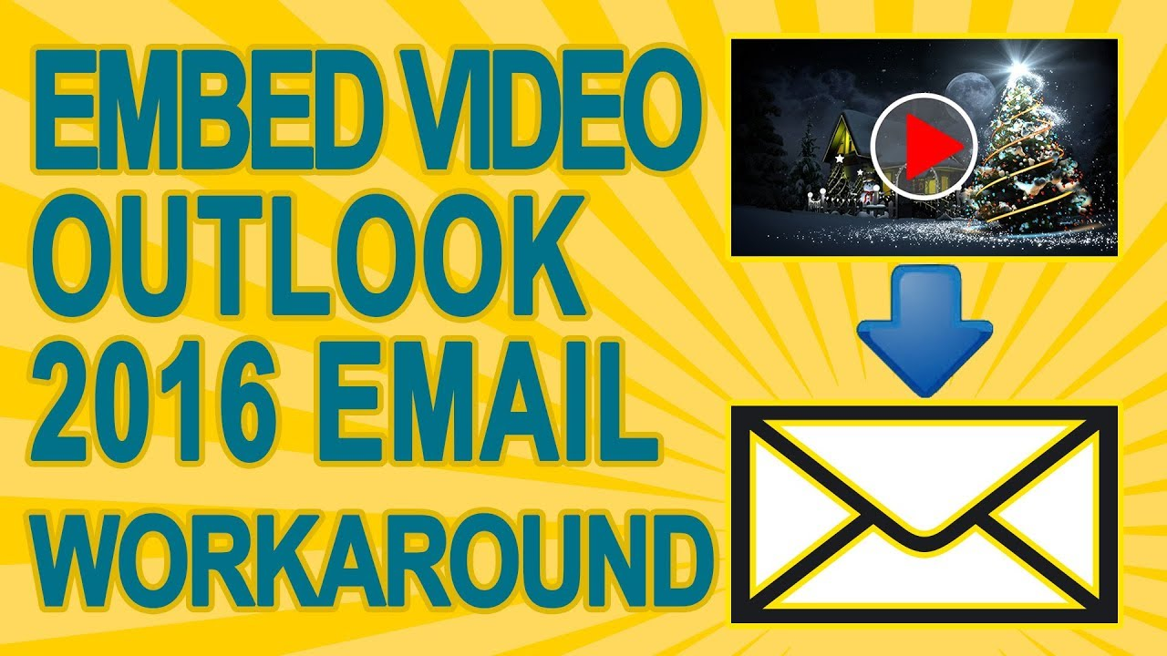 How To Appear to Embed YouTube Video In the Body Of Your Outlook Email with  a fake player