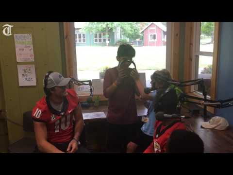 Camp Sunshine campers interview Jacob Eason, Mecole Hardman on campus radio