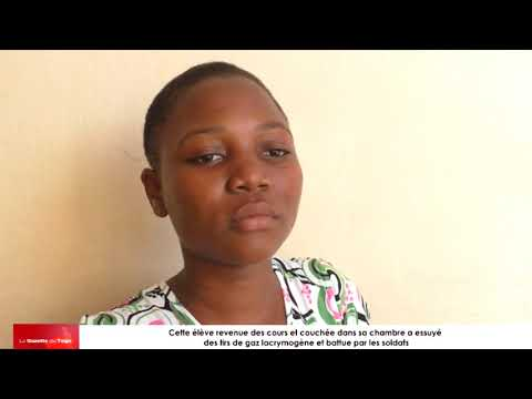 Cette élève essuie des gaz lacrymogène dans sa chambre puis battue après par les soldats
