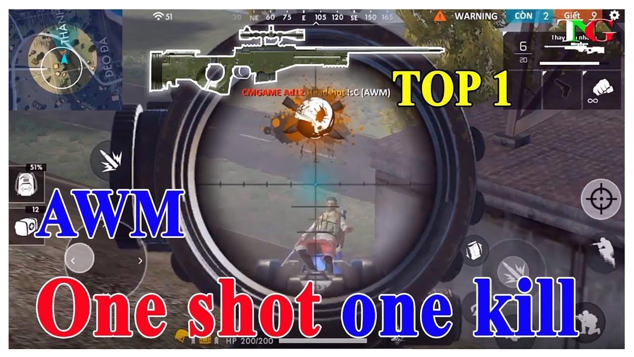 Thử thách chỉ dùng AWM và One shot one Kill TOP 1 phá kỷ lục Free Fire OB8 cùng TNG