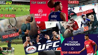 TOP 10 SPORTS GAMES | SPORTS GAME | ONLINE AND OFFLINE GAMES | MOBILE GAMES | ANDROID AND IOS GAMES