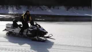 снегоходы  р.Абакан 2013 март . Рыбалка