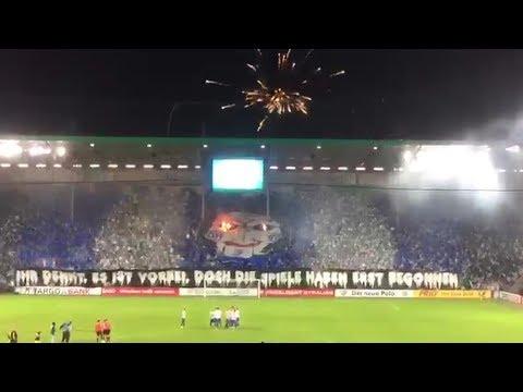 Choreo und Pyrotechnik | 1. FC Magdeburg - Borussia Dortmund BVB DFB Pokal 17/18