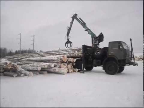 Погрузка вывозка разгрузка леса в хлыстах