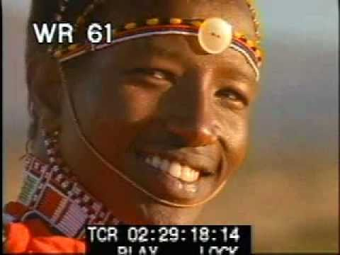African Tribe - part 2 - color archival stock footage