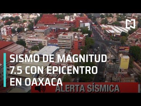 Sismo de magnitud 7.5, con epicentro en Oaxaca, deja leves daños y una fallecimiento