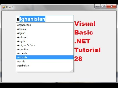 visual basic net tutorial 28 autocomplete combobox and a textbox rh youtube com tutorial visual basic 2010 español tutorial visual basic 2010 español pdf gratis