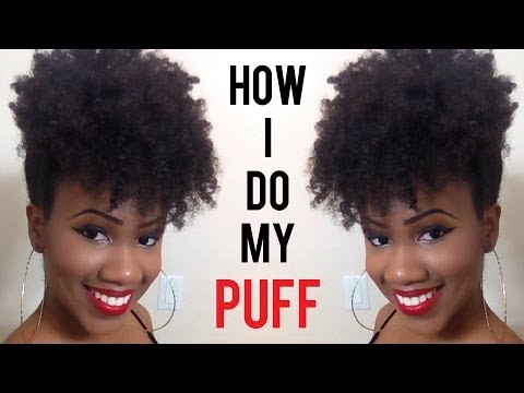 How To Do A Forward High Puff On Natural Hair Youtube