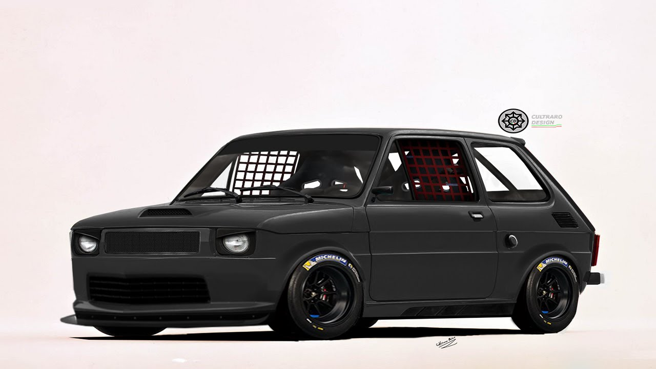 virtual tuning 126 fiat 126 polski fiat 126p photoshop hd youtube. Black Bedroom Furniture Sets. Home Design Ideas