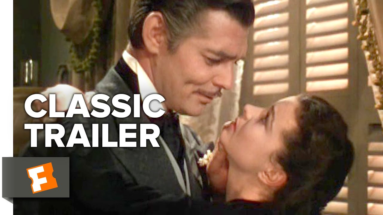 gone with the wind 1939 official trailer clark gable vivien