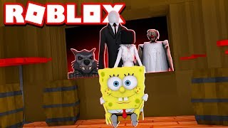 BOB ESPONJA VS MONSTOS GIGANTES NO ROBLOX!!