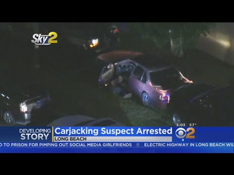 Carjacking Suspect Arrested After Pursuit Ends With Him Being Shot With Beanbag