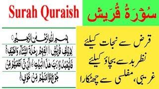Surah Quraish, Qarz, Gareebi, Nazr e Bad se nijat, msr quadri