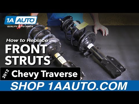 How to Replace Install Front Struts 09-12 Chevy Traverse