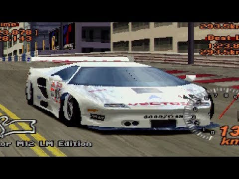 Gran Turismo 2 - Vector M12 LM Race Car REVIEW