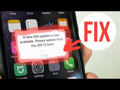 FIX iOS 12 beta Annoying Popup Message – A New iOS Update is now Available
