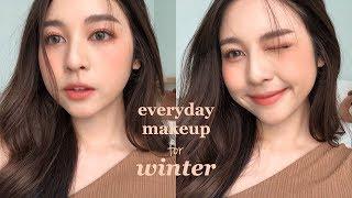 ☃️EVERYDAY MAKEUP for WINTER แต่งหน้าละมุนๆช่วงหน้าหนาว! ❄️| Babyjingko