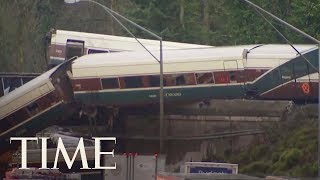 Video Multiple Casualties And Injuries Reported As Amtrak Train Derails Near Seattle   TIME download MP3, 3GP, MP4, WEBM, AVI, FLV Agustus 2018