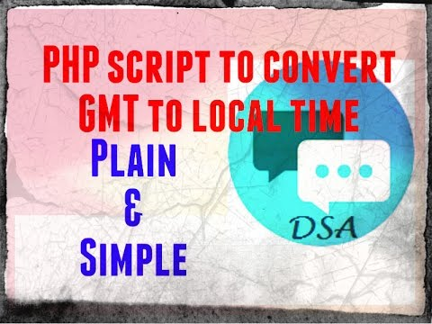 How to convert GMT to local time using PHP