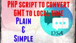 How Convert Gmt Local Time Using Php