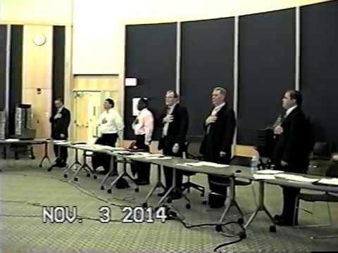 Tewksbury, MA Board of Selectmen Meeting Nov. 3, 2014 part 1