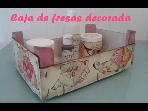 Caja de fresas decorada youtube - Como decorar cajas de madera de fruta ...
