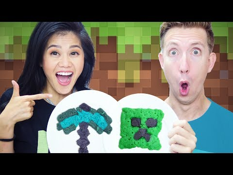 PANCAKE ART CHALLENGE!!! Minecraft vs Chad Wild Clay