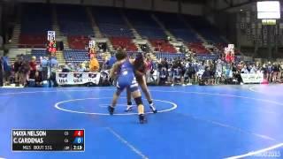 130 Quarterfinal - Caitlin Cardenas (California) vs. Maya Nelson (Colorado)