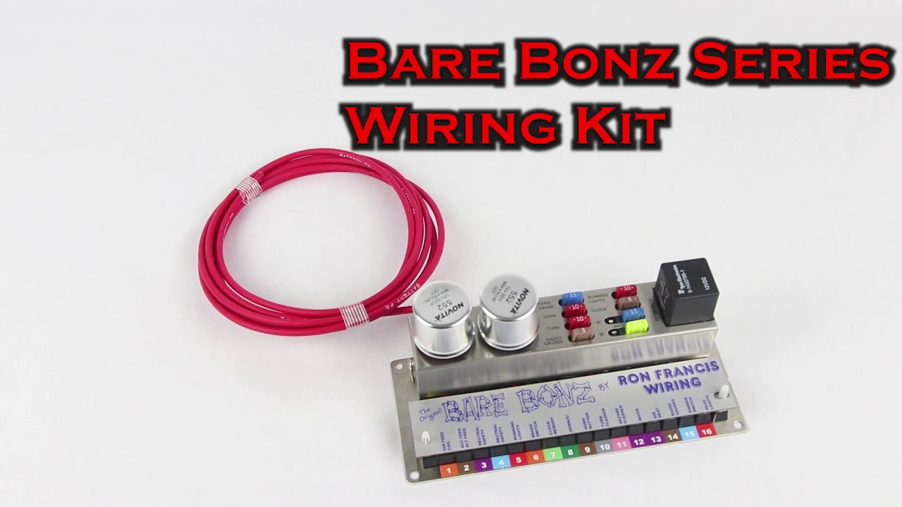 BB-68 Mopar Powered BARE BONZ Wiring Kit-Ron Francis Wiring on