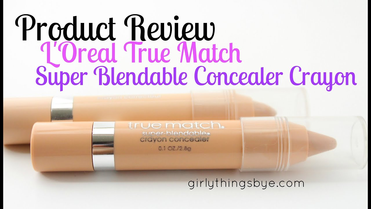 Review: L'Oreal True Match Super Blendable Concealer Crayon - YouTube