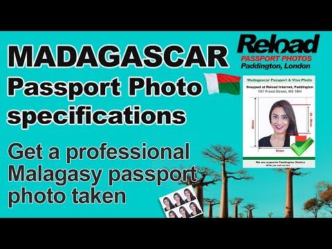 Madagascar Passport Photo and Visa Photo snapped in Paddington, London