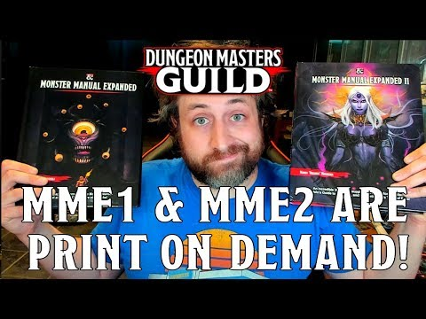 Monster Manual Expanded 1 U0026 2 Print On Demand Review! | Nerd Immersion