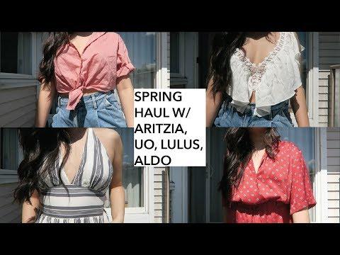 BIG SPRING HAUL 2018 || ARITZIA, LULUS, URBAN OUTFITTERS, ALDO