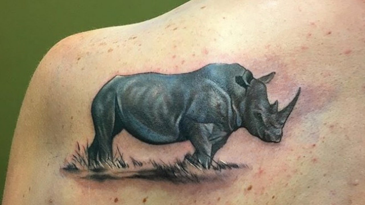 Rhino Tattoo Ideas As A Symbol Of Endurance Agility And Strength