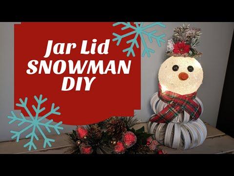 Jar Lid Ring SNOWMAN DIY
