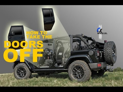 Jeep Wrangler JK | How to take the doors off & Jeep Wrangler JK | How to take the doors off - YouTube