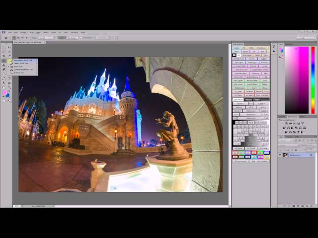 Spot & Dust Removal using Lightroom & Photoshop - Walt Disney World Photo Editing