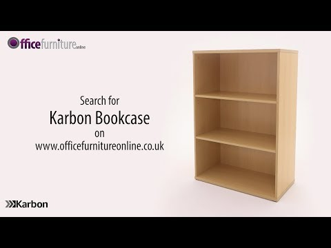 Karbon 2 Shelf Wooden Office Bookcase - Features