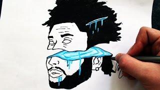 Desenhando The Weeknd [Acid Artwork] - (Drawing Weeknd) - SLAY DESENHOS #186