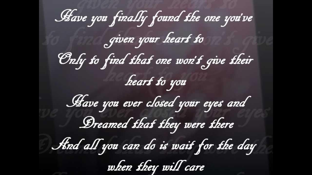 BRANDY HAVE YOU EVER ( LYRICS ) - YouTube