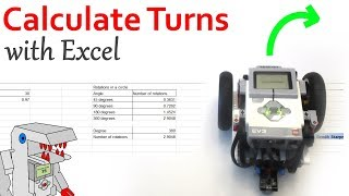 This Excel Spreadsheet Saves Time Programming an FLL Robot - EV3 Navigation with Bendik Skarpnes