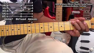 How To Play WHO'S THAT LADY Isley Brothers Guitar Lesson EricBlackmonGuitar HD