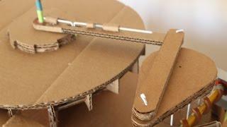 Hand crank cardboard ratchet machine walk through
