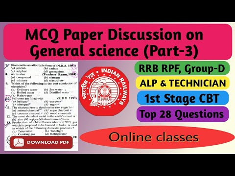 General Science For Rrb Exam Pdf