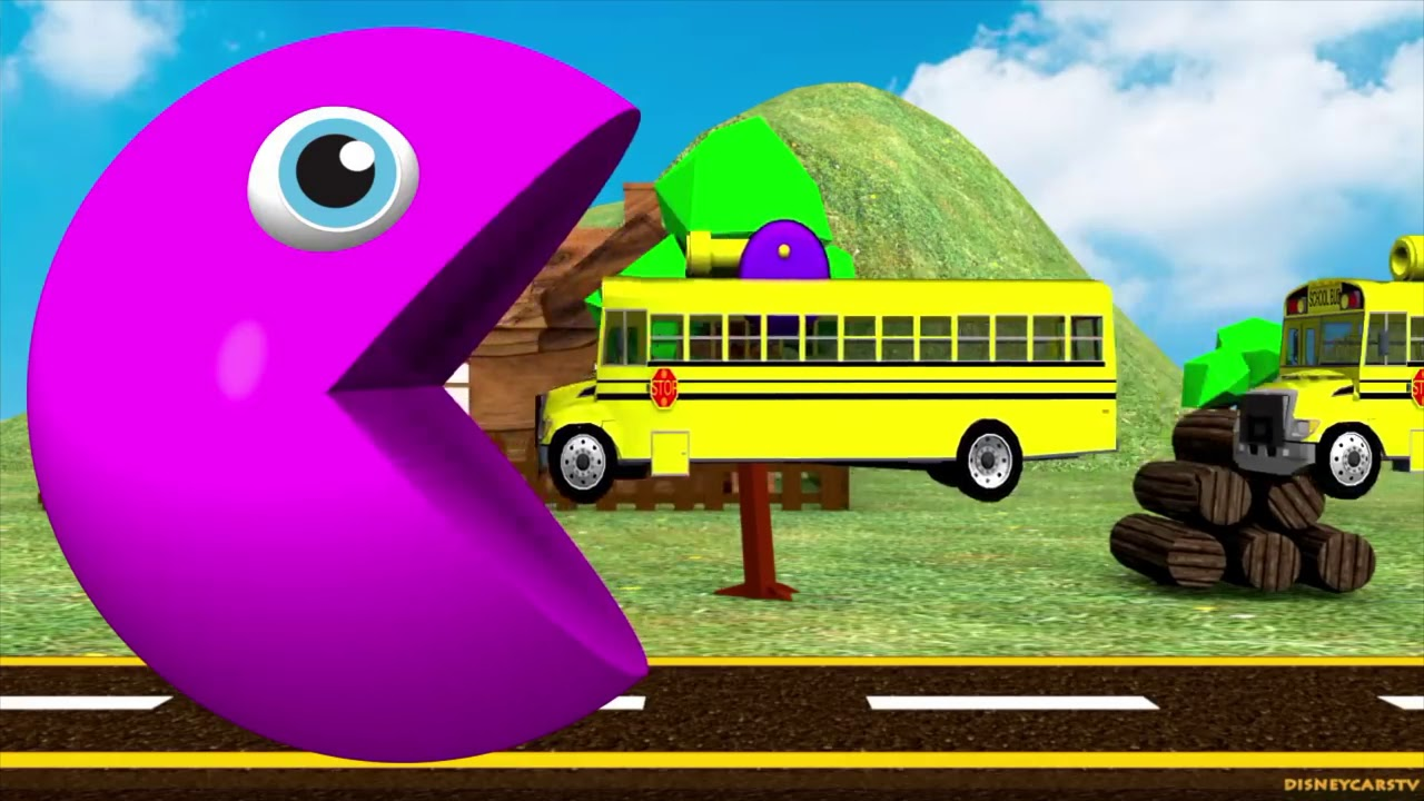Learn Colors With Pacman Cars and Trucks For Children (Kids Compilation)