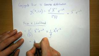 Gamma distribution is Conjugate prior for Poisson Likelihood